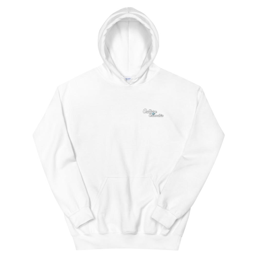 White C&C Pocket Logo Hoodie